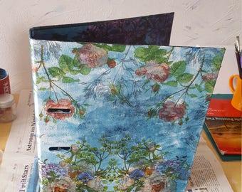 Blue flower folder / blue flower folder