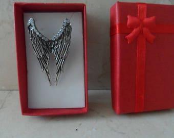 Silver Angel Wings ring