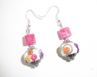 BOMBAY earrings white