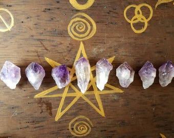 Brazilian amethyst crystals