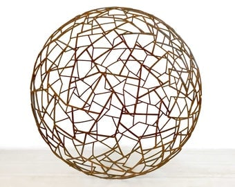 Geocurved - Contemporary Metal Sculpture - Sphere Series - Modern Outdoor Art - Fine Art - Rusted Outdoor Sculpture - Yard Art -