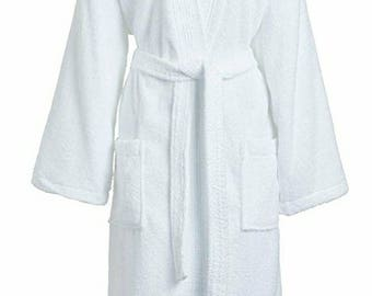 Embroidered Terry Cloth Robe