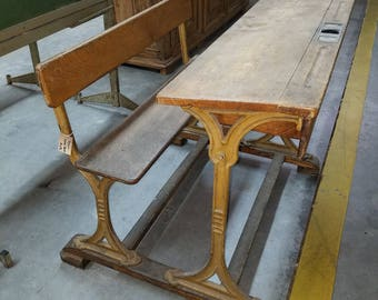 Antique French school desk
