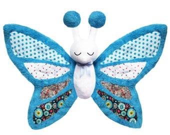 Very soft Butterfly plush handmade