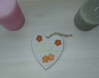 "Decorative ""happiness"" hanging plaque"