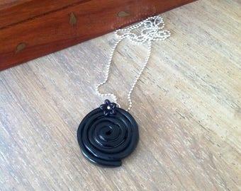 Black licorice Necklace: