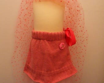 Pink Princess skirt for girls 12-18 months