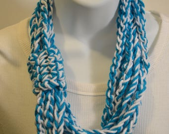 Chain crochet scarf necklace infinity cowl