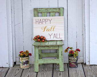 Happy Fall Y'all Sign   Wooden Sign   Happy Fall