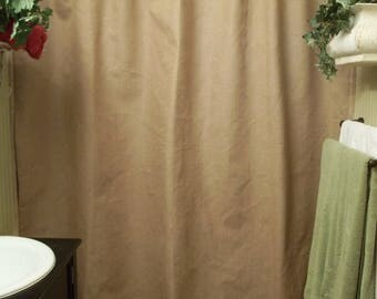 COUNTRY COLLECTION FARM SKIN BURLAP SHOWER CURTAIN