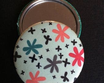 Pocket mirror and matching wallet
