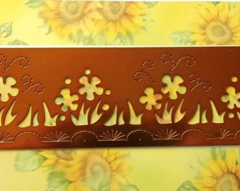 STENCIL for EMBOSSING or EMBOSS - METAL frieze flowers REF. 62