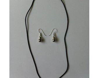 Necklace with toggle clasp by Silver bead BAGART