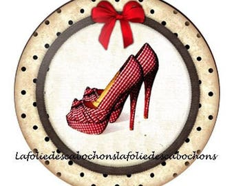 """Paste cabochon resin 25 mm for jewelry theme """"shoes"""""""