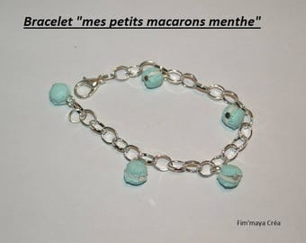 "Bracelet sweet berries and girly ""My Macaron mint"""