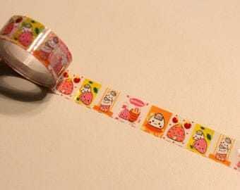 Masking tape - treats - Style manga - length 2.50 m - Scrapbooking card making, Home Deco