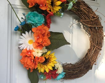 Summer Wildflower Wreath *PRICE DROP*