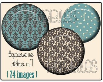 Digital collage sheets - Pattern Vintage Printable Images for Jewelry Making