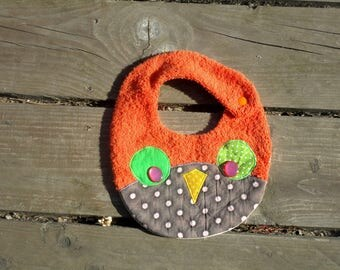 Original baby OWL towel orange