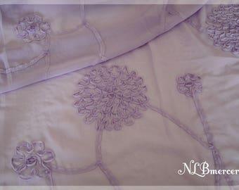 Purple chiffon fabric
