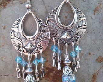 Romantic pastel blue earrings