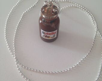 Necklace chocolate jar with spoon :)