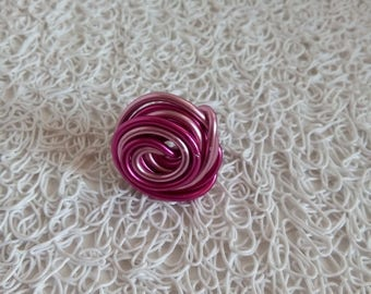 fuchsia and pink aluminum ring