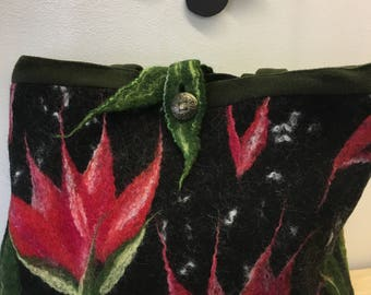 HandMade Felted Wool Unique Large Bag