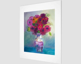 Still Life Fine Art Print | Flower Wall Art | Office Art Accents | Home Decor