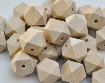 Natural color 12 mm wooden beads