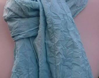 Scarf cotton sky blue