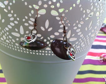 Lime and Brown earrings
