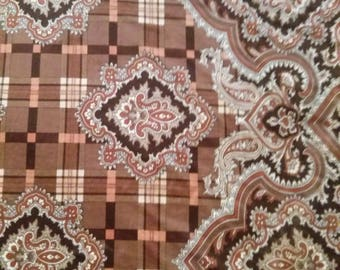 Polyester and spandex Brown