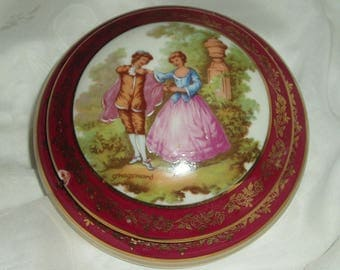 Vintage Limoges Fragamond Powder Bowl Trinket Dish