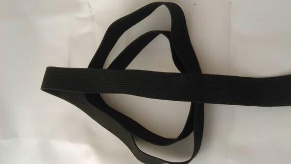 Black color elastic - 2 cm wide