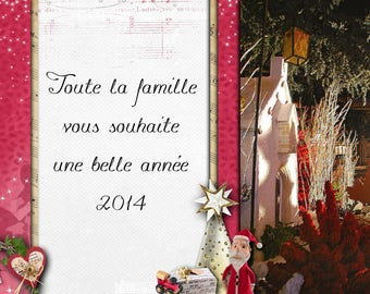 """A card in the collection """"The new year"""""""