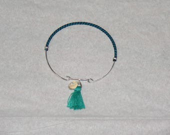 Soft, silver Bangle with clasp bracelet