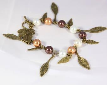 Beautiful bracelet charm glass bead, 23 cm