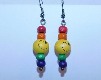 Rainbow Winky Face Earrings