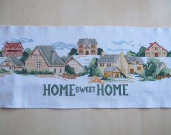 """Home sweet home"" embroidery cross stitch"