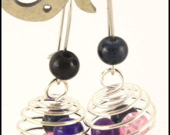 cage and multicolored Pearl Earring