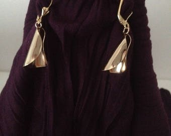 Earrings conical plated gold