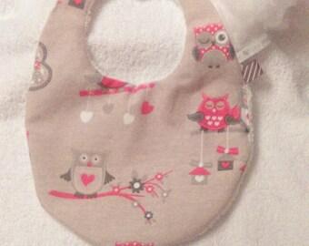 Baby 0/6 OWL Christmas bib