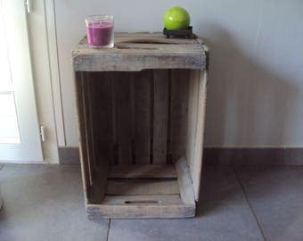 Authentic wooden crate
