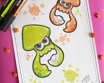 Drawing handmade Squid games (ORIGINAL No. print)