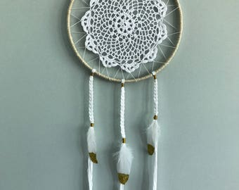 Golden Girl Doily Dream Catcher