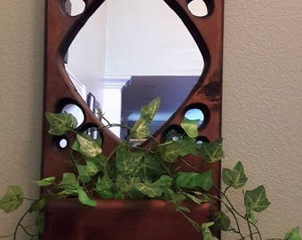Wooden hanging planter
