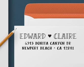 Custom Address Stamp 324 - Return Address Stamp, Self Inking Stamp, Custom Stamp, Personalized Address Stamp, Wedding and Housewarming Gift