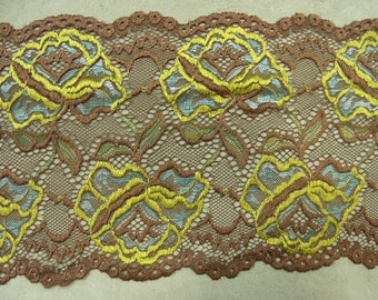 LACE of CALAIS - 17cm - multicolor Brown