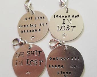 Hand Stamped Collar Tags